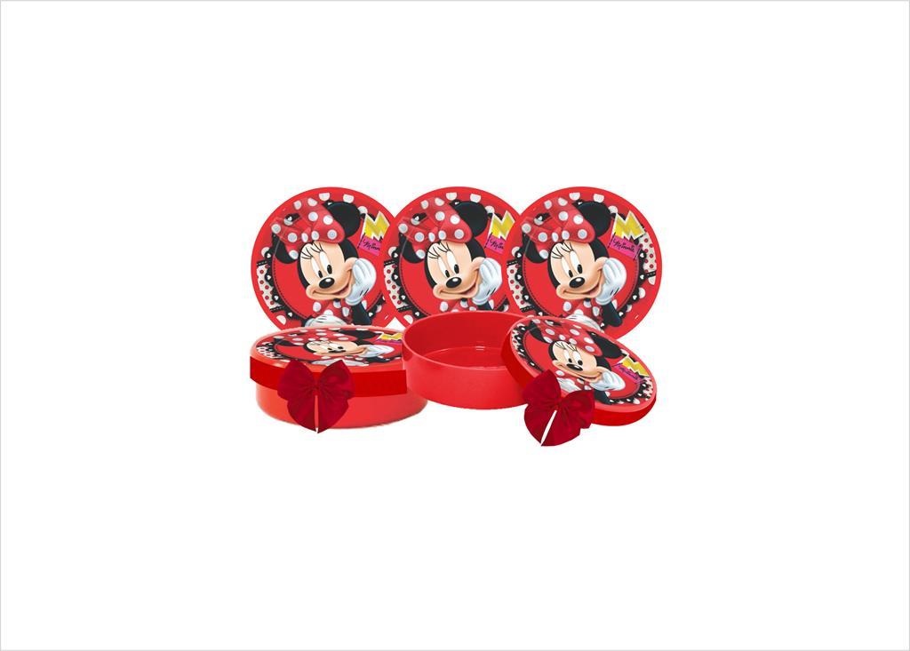 Kit festa decorado  Minnie vermelha  155 peças  20 pessoas