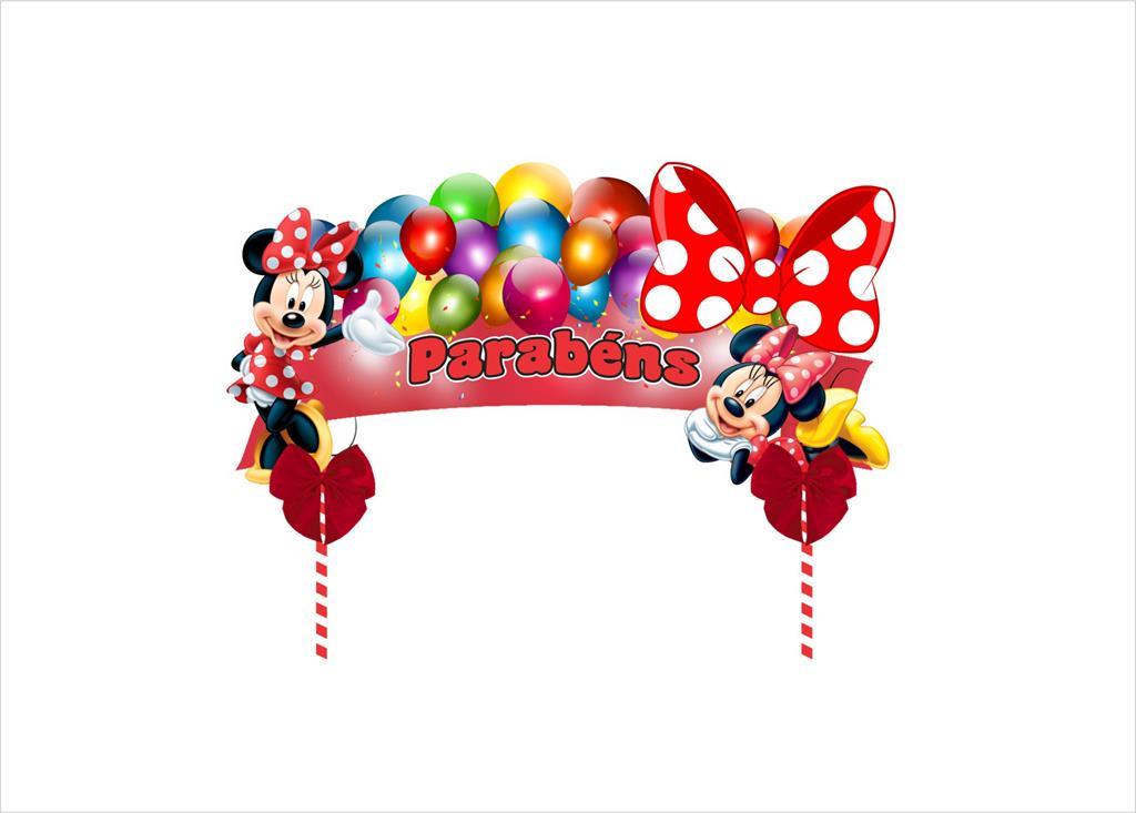 Kit festa decorado  Minnie vermelha 61 peças