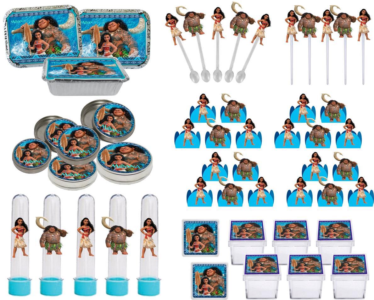 Kit festa Moana 114 peças (10 pessoas)