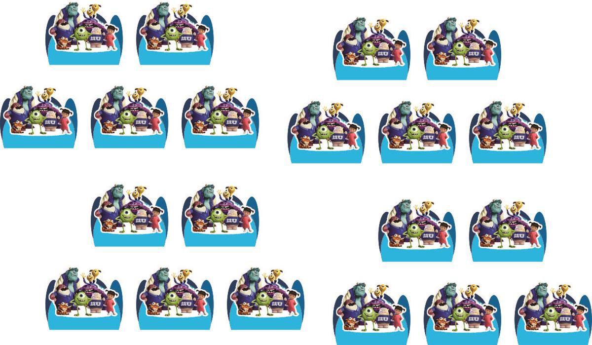 Kit festa Monstros SA 107 peças (10 pessoas)