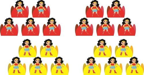 Kit festa Mulher Maravilha Baby 99 peças (10 pessoas)