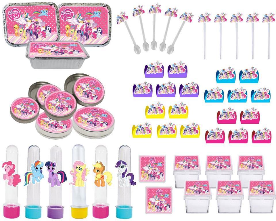Kit festa My Little Pony 114 peças (10 pessoas)