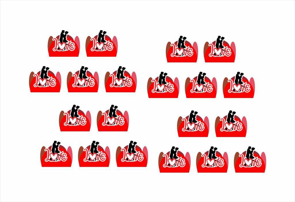 Kit festa Namorados 61 peças