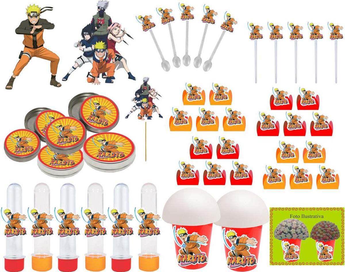 Kit Festa  Naruto 143 Peças (20 pessoas)
