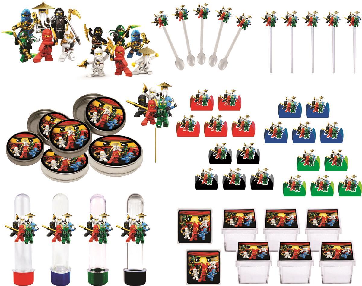 kit festa Ninjago 161 peças (20 pessoas)