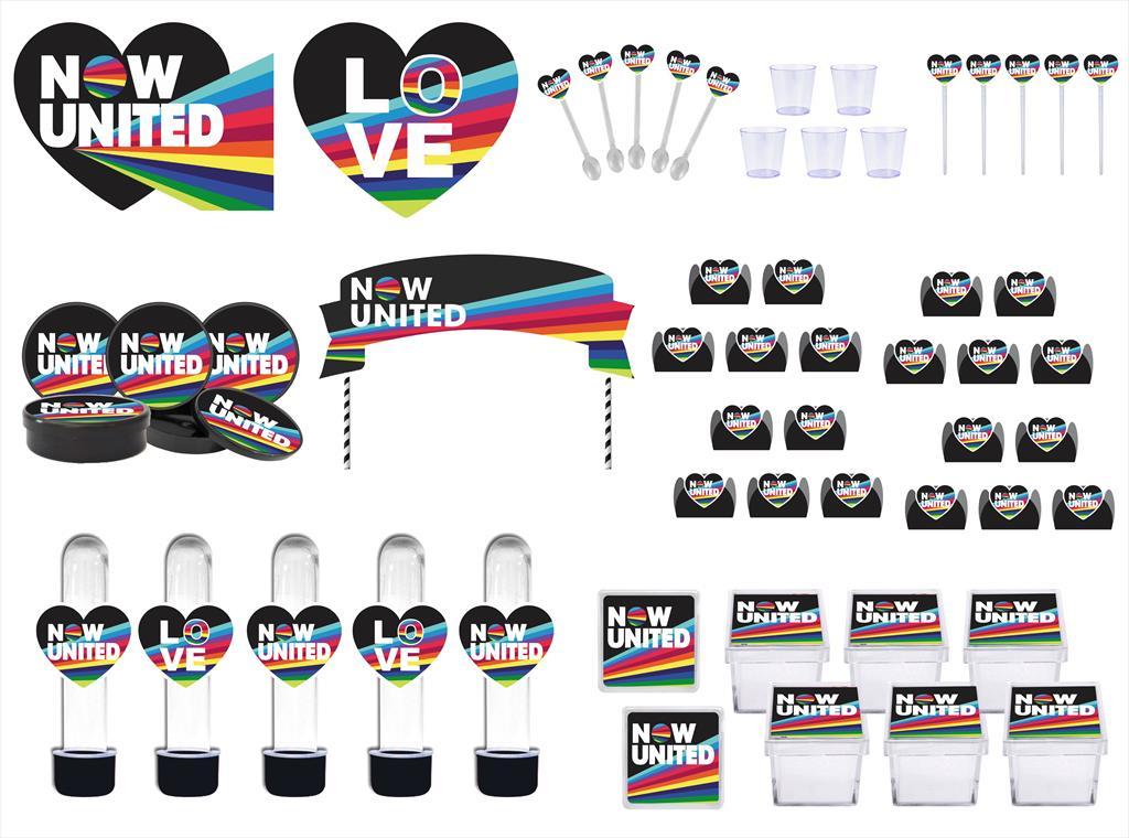 Kit festa Now United (preto) 113 peças (10 pessoas)