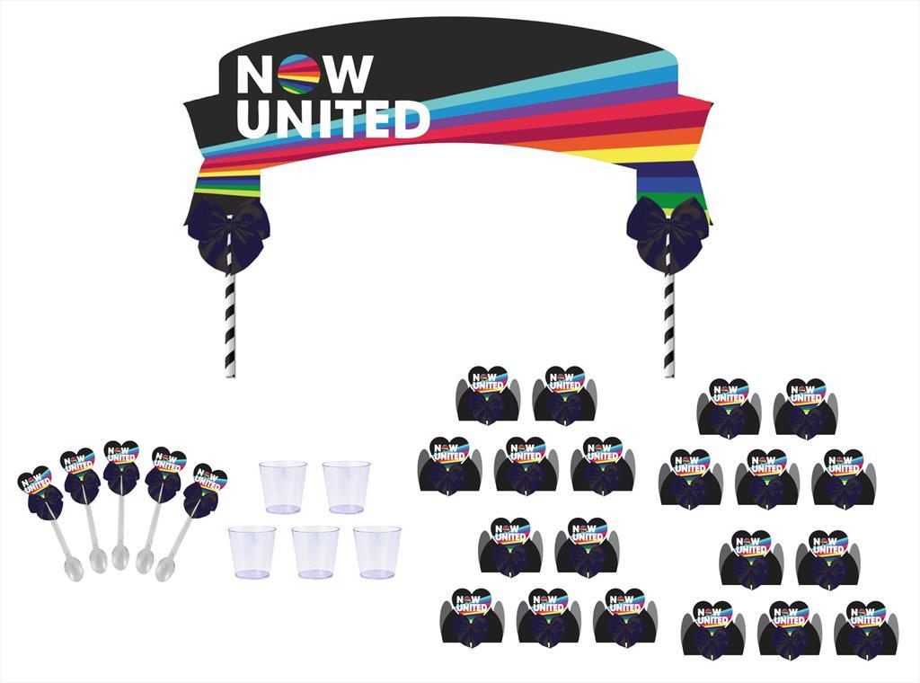 Kit festa decorado Now United (preto) 61 peças