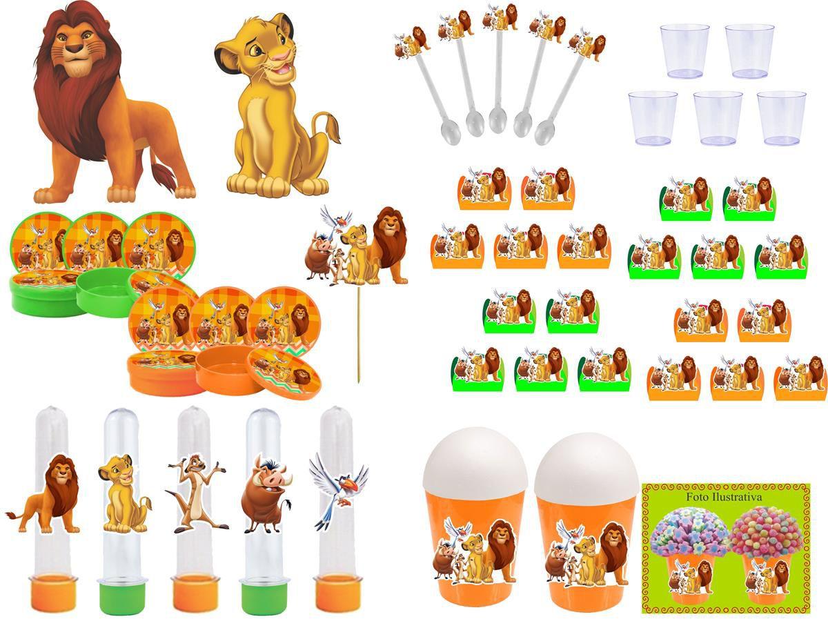 Kit festa O Rei Leão 155 peças (20 pessoas)