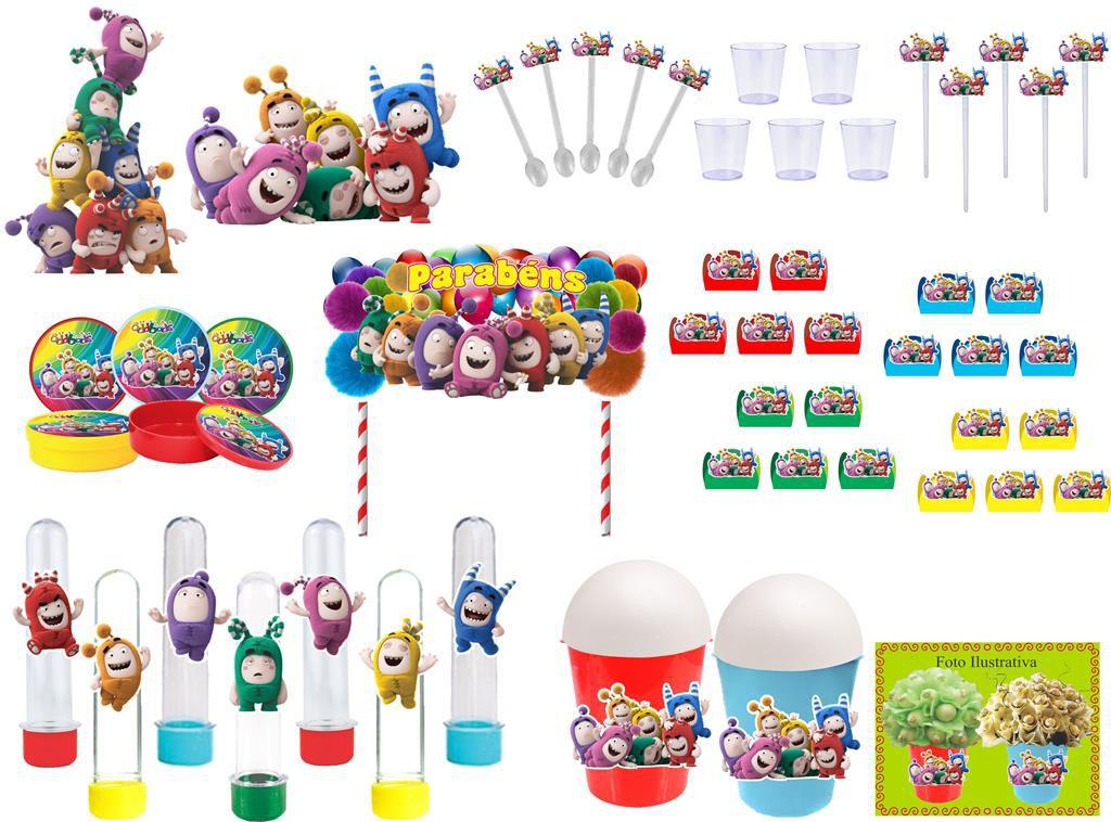 Kit festa Oddbods 105 peças (10 pessoas)