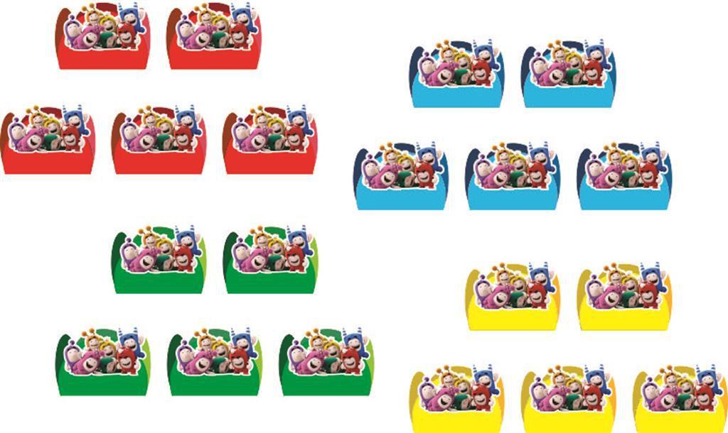 Kit festa Oddbods 113 peças (10 pessoas)