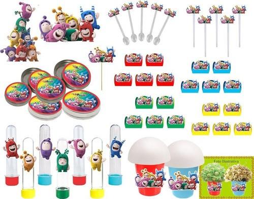 Kit festa Oddbods 99 peças (10 pessoas)
