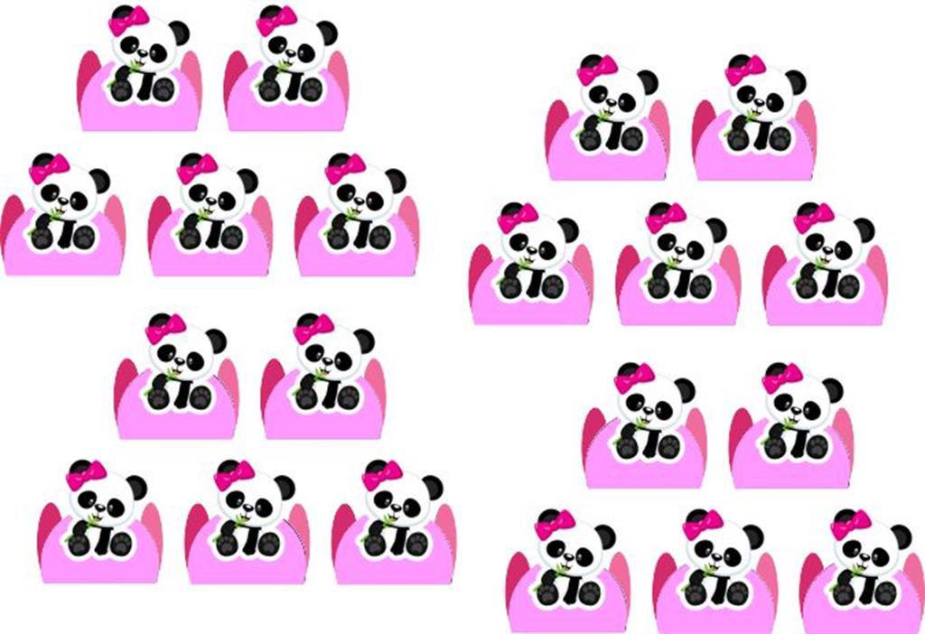 Kit Festa Panda Menina 114 peças (10 pessoas)