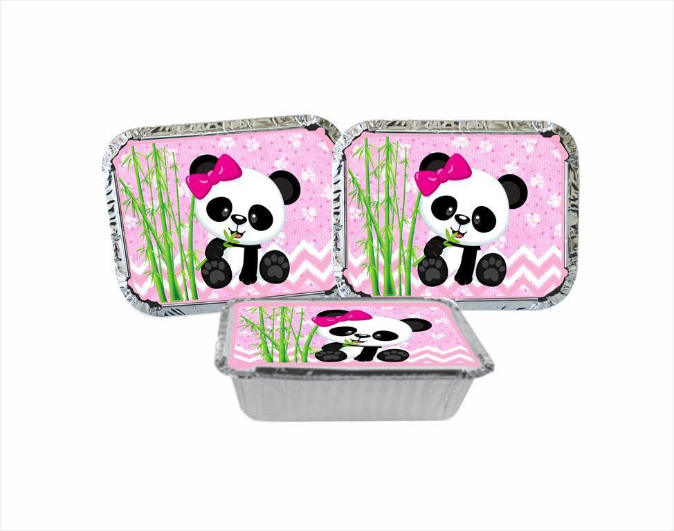 Kit Festa Panda Menina 121 peças (10 pessoas)