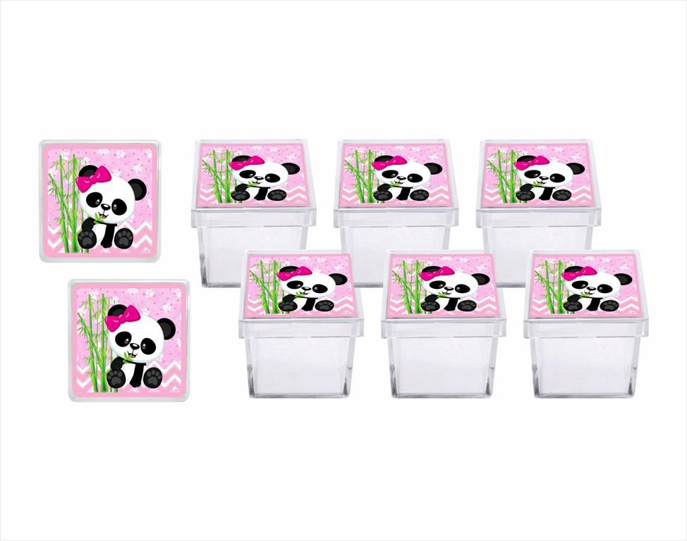 Kit festa panda Menina 293 peças  (30 pessoas)