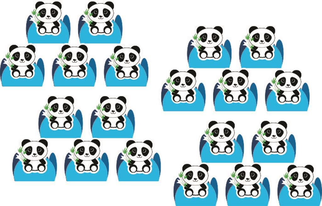Kit Festa Panda menino (azul) 152 peças (20 pessoas)