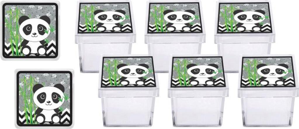 Kit festa Panda (preto e branco) 114 peças (10 pessoas)