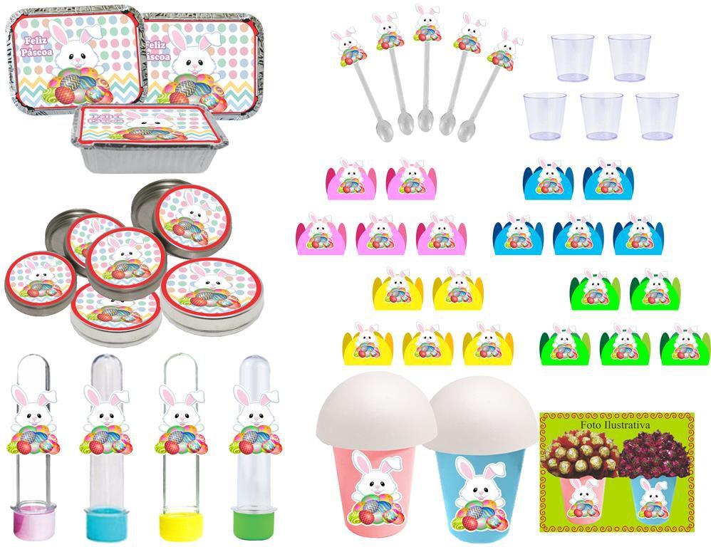 Kit festa Páscoa 152 peças (20 pessoas)