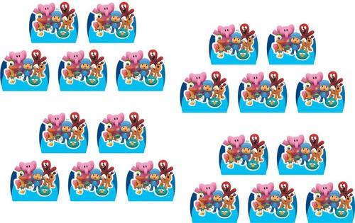 Kit Festa Pocoyo (azul claro) 99 Peças (10 pessoas)