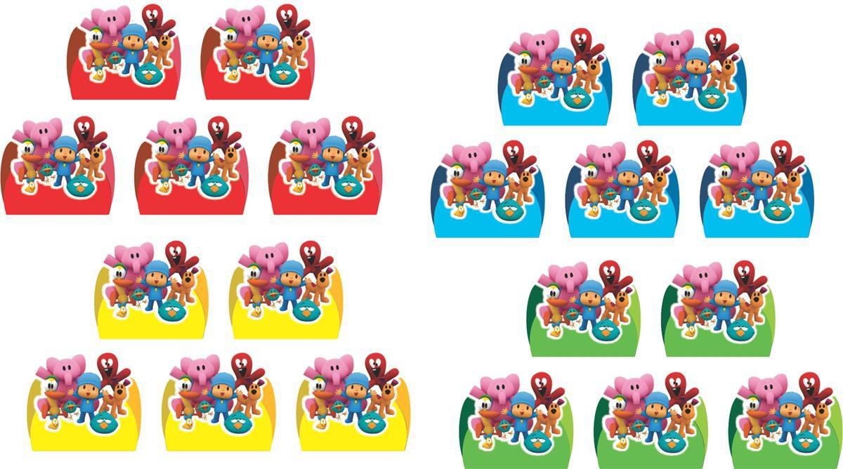 Kit festa Pocoyo (colorido) 143 peças (20 pessoas)