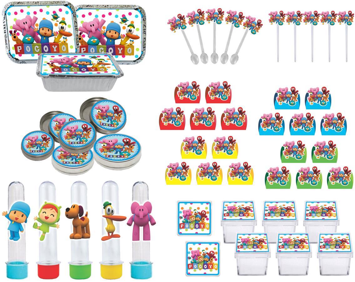 Kit festa Pocoyo (colorido) 178 peças (20 pessoas)