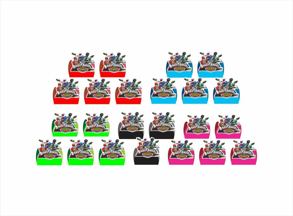 Kit Festa Power Ranger Dino Charger 265 Peças (30 pessoas)
