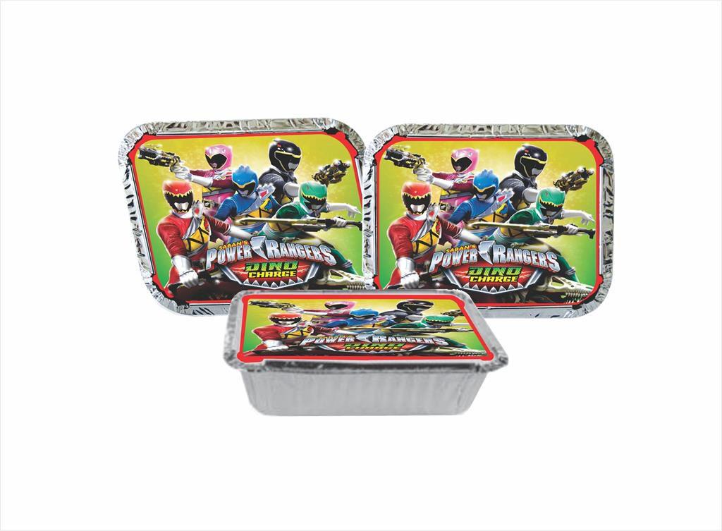 Kit Festa Power Ranger Dino Charger 352 Peças (50 pessoas)