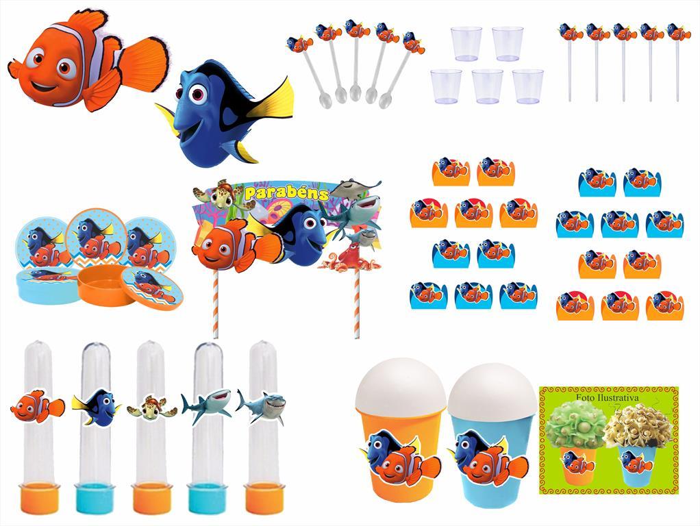 Kit festa Procurando Nemo 105 peças (10 pessoas)