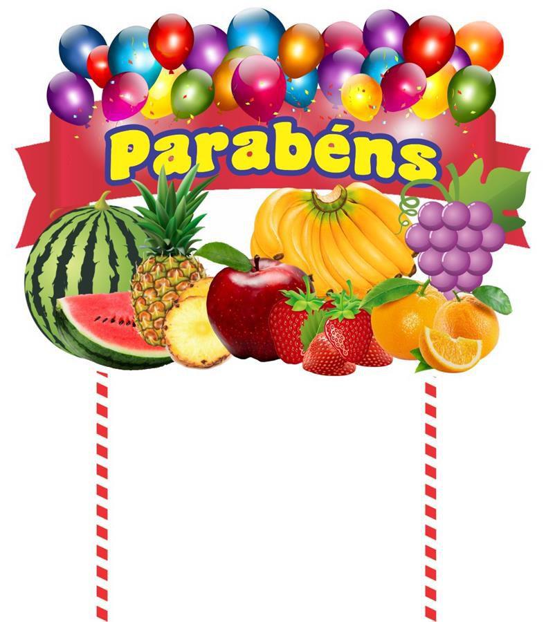 Kit festa Salada de Frutas 61 peças