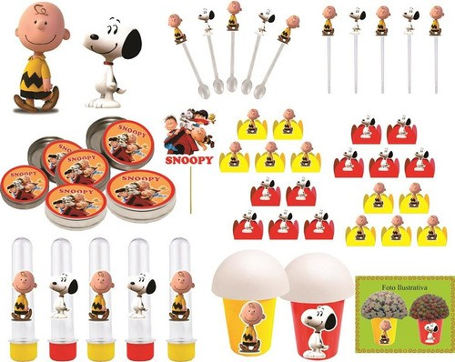 Kit Festa Snoopy 99 Peças (10 pessoas)