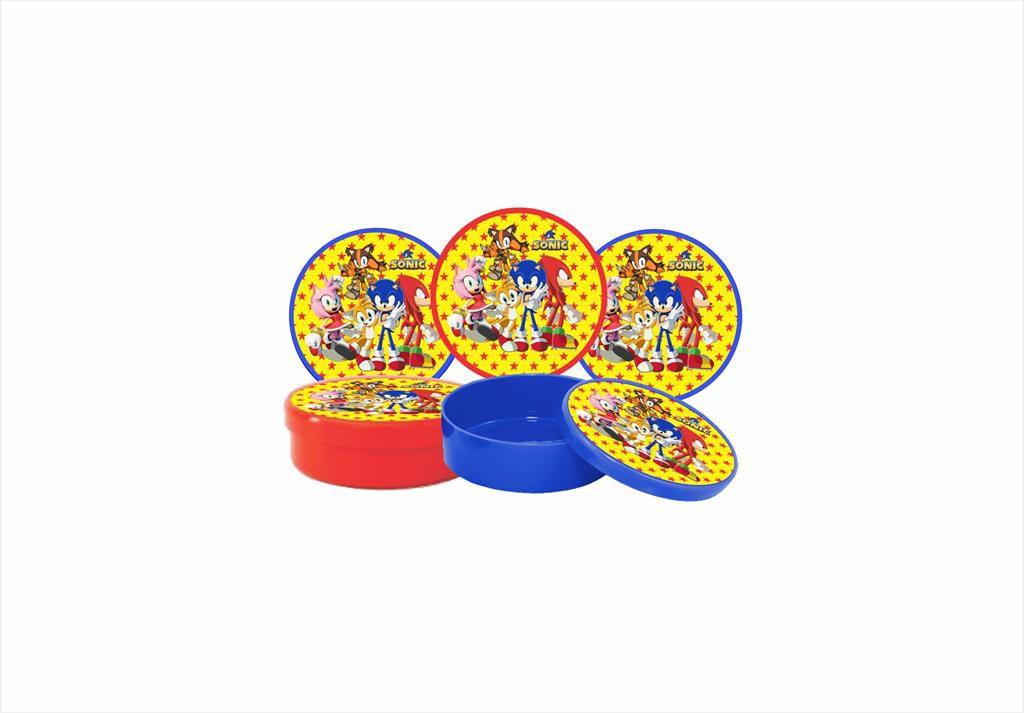 Kit festa Sonic e sua Turma 113 peças  (10 pessoas)