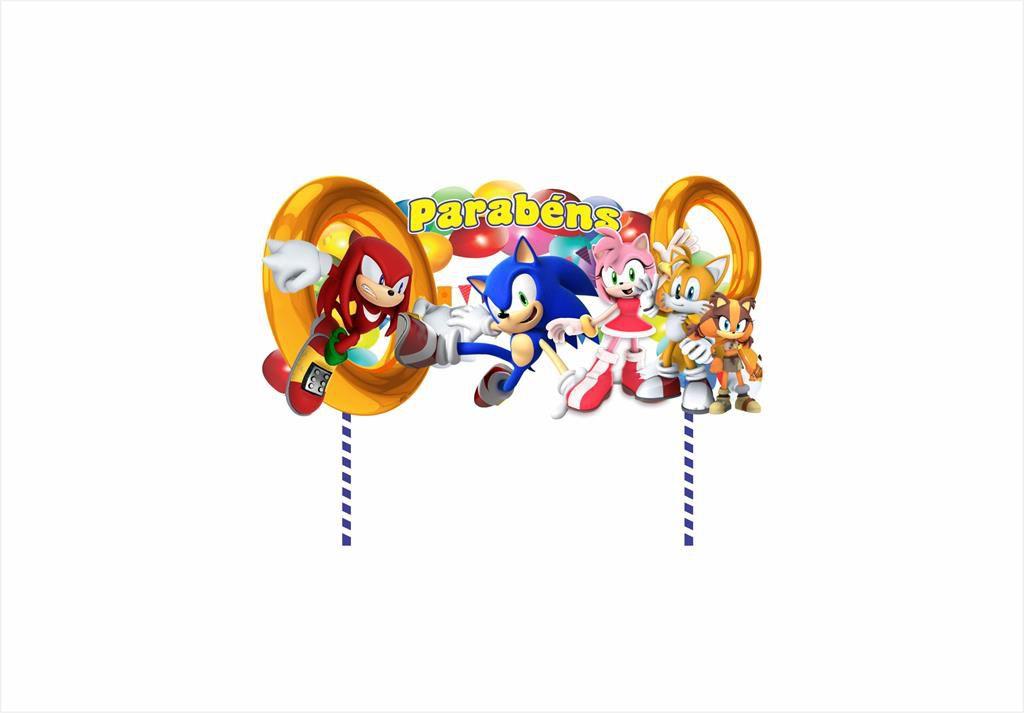 kit festa Sonic e sua Turma 61 peças