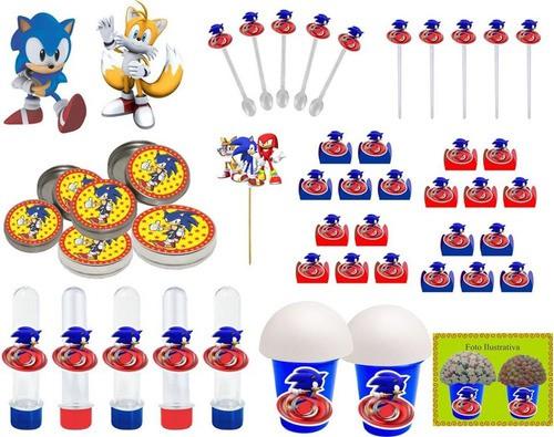 Kit festa Sonic 99 peças (10 pessoas)