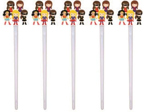 Kit festa Super Heroínas 99 peças (10 pessoas)