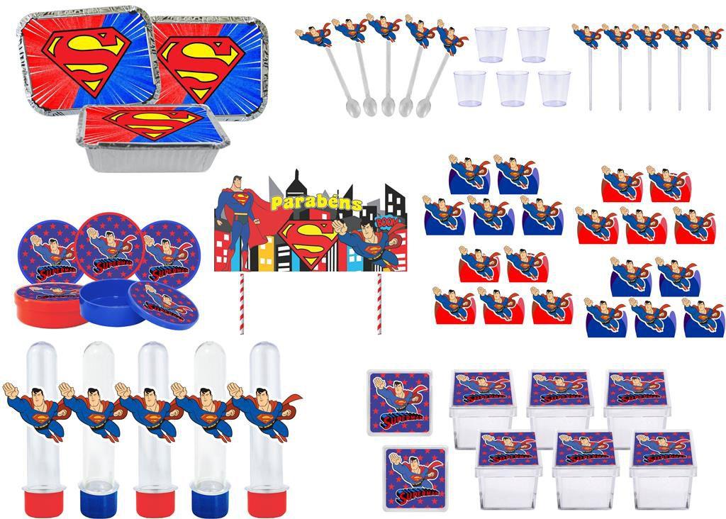 Kit festa Super Man 191 peças (20 pessoas)