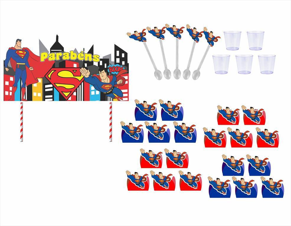 Kit festa Super Man 363 peças (20 pessoas)
