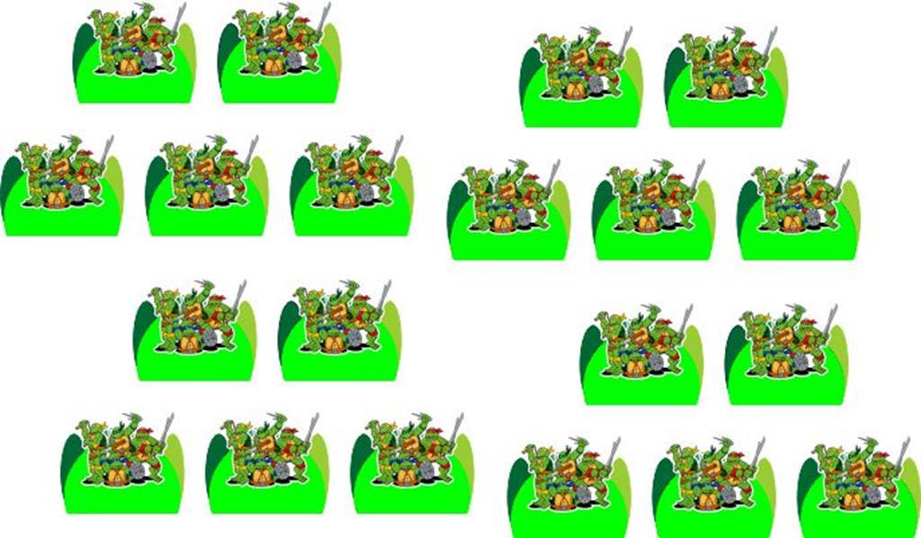 Kit Festa Tartarugas Ninja desenho 99 Peças (10 pessoas)