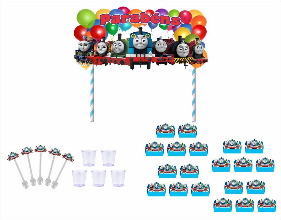 Kit festa Thomas e Seus Amigos 191 peças (20 pessoas)