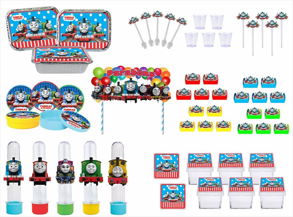 Kit festa Thomas e Seus Amigos (colorido) 191 peças (20 pessoas)
