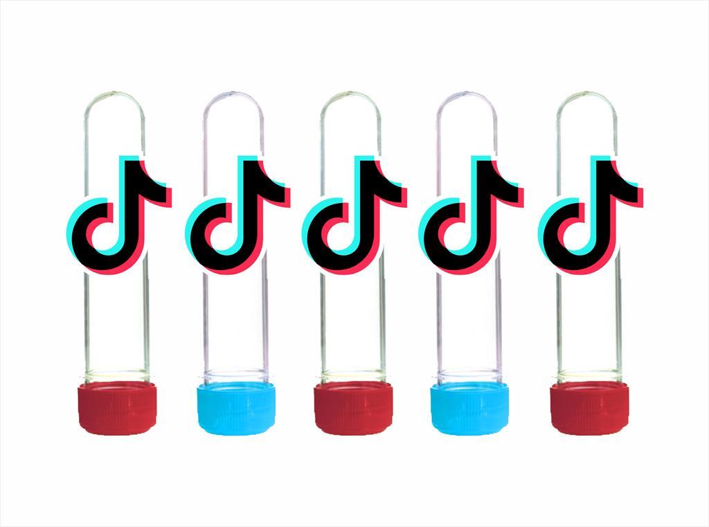 Kit festa Tik Tok (colorido) 173 peças (20 pessoas)
