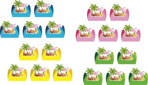 Kit festa Tropical Flamingo 114 peças (10 pessoas)