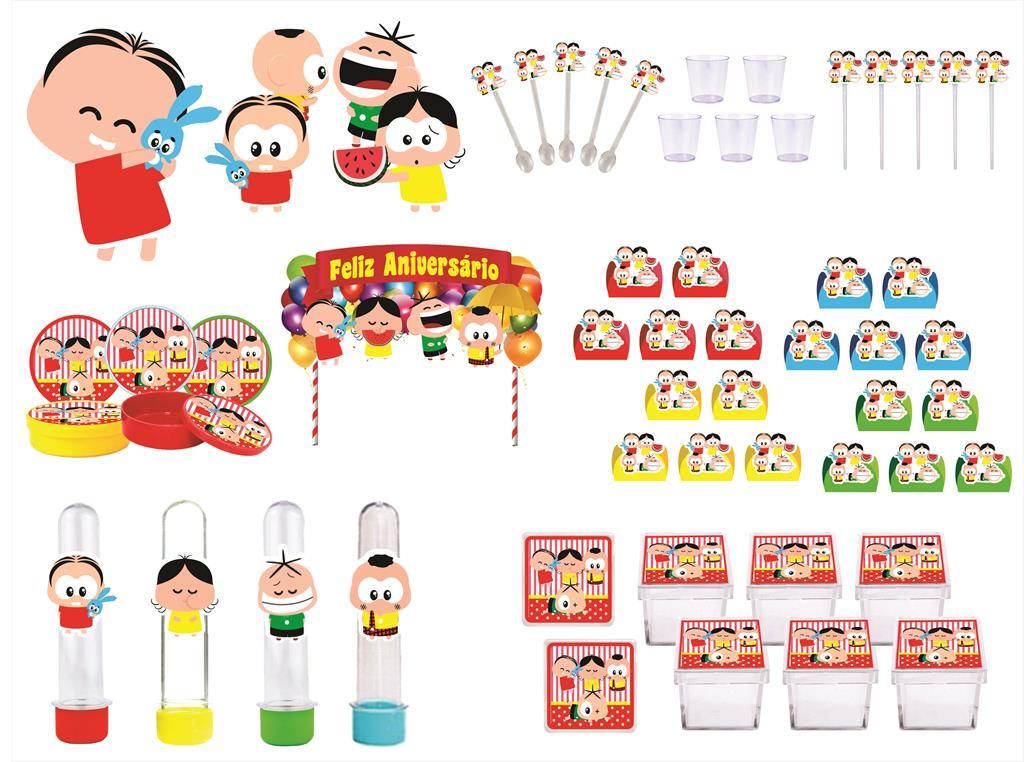Kit festa Turma da Mônica Toy 173 peças (20 pessoas)
