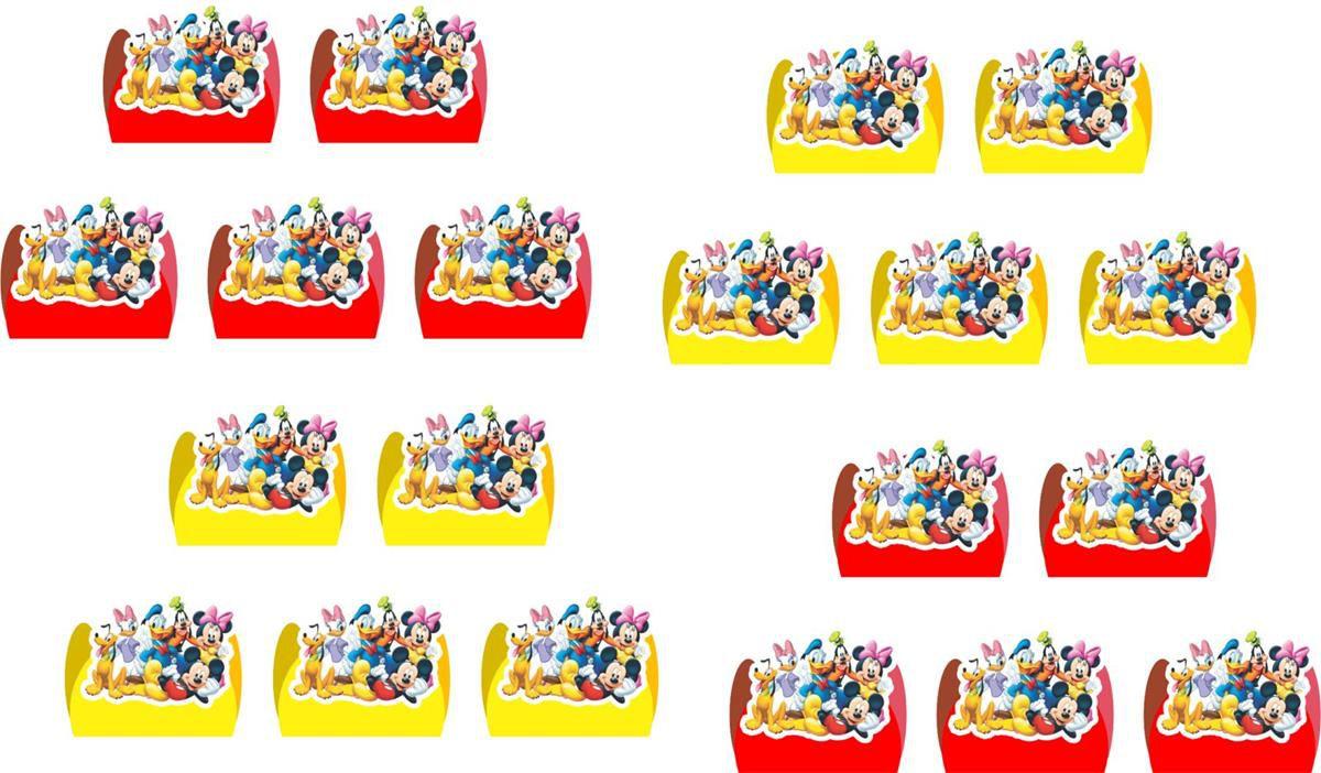 Kit festa Turma do Mickey 160 peças (20 pessoas)