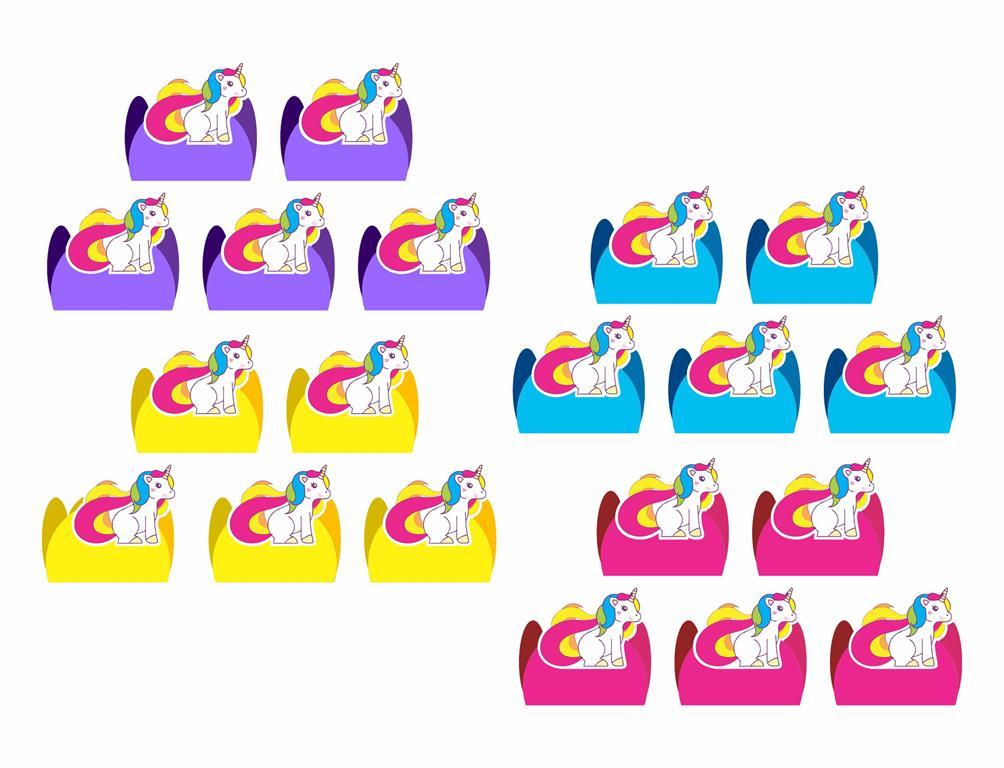 Kit festa Unicórnio 114 peças (10 pessoas)