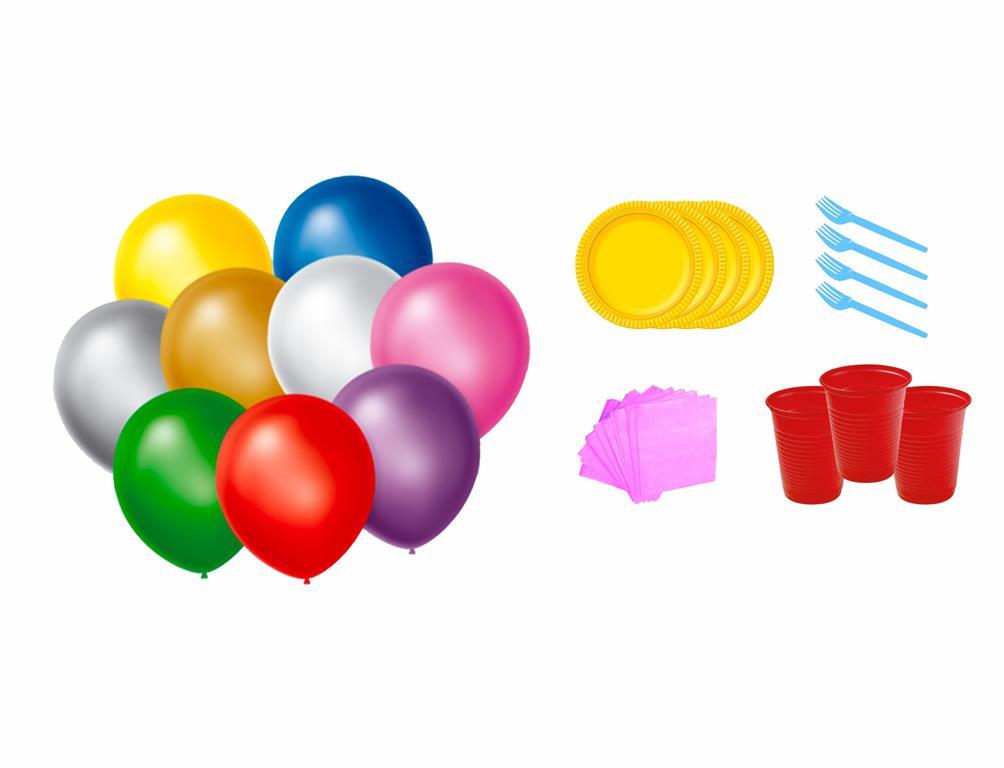 Kit festa Unicórnio 363 peças (20 pessoas)