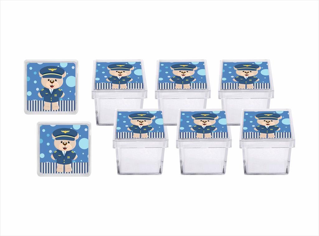 Kit festa Ursinho Aviador 173 peças (20 pessoas)