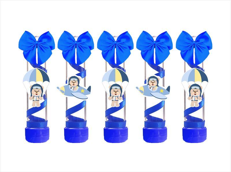 Kit festa decorado Ursinho Aviador  121 peças (10 pessoas)