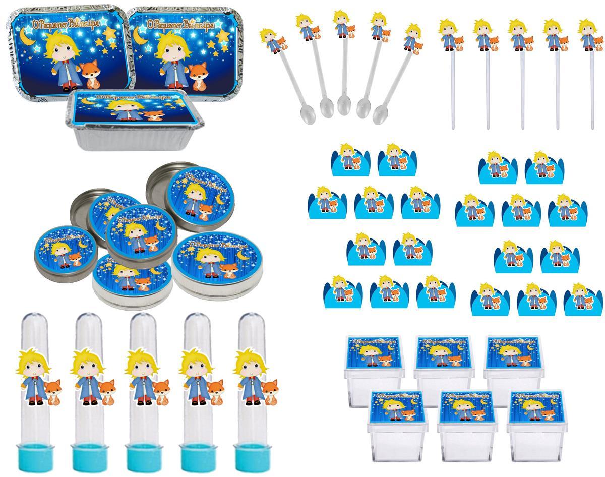 Kit  Festa Ursinho O Pequeno Príncipe Baby 114 Peças (10 pessoas)