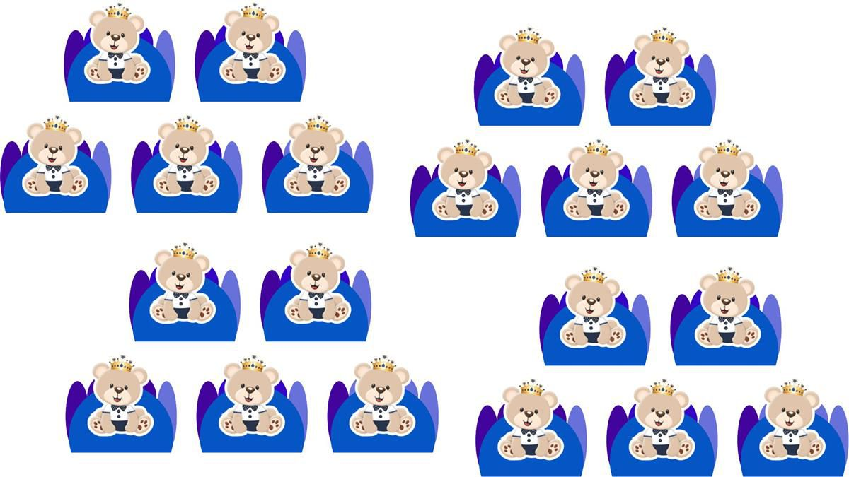 Kit Festa Ursinho Príncipe Azul Escuro 114 peças (10 pessoas)