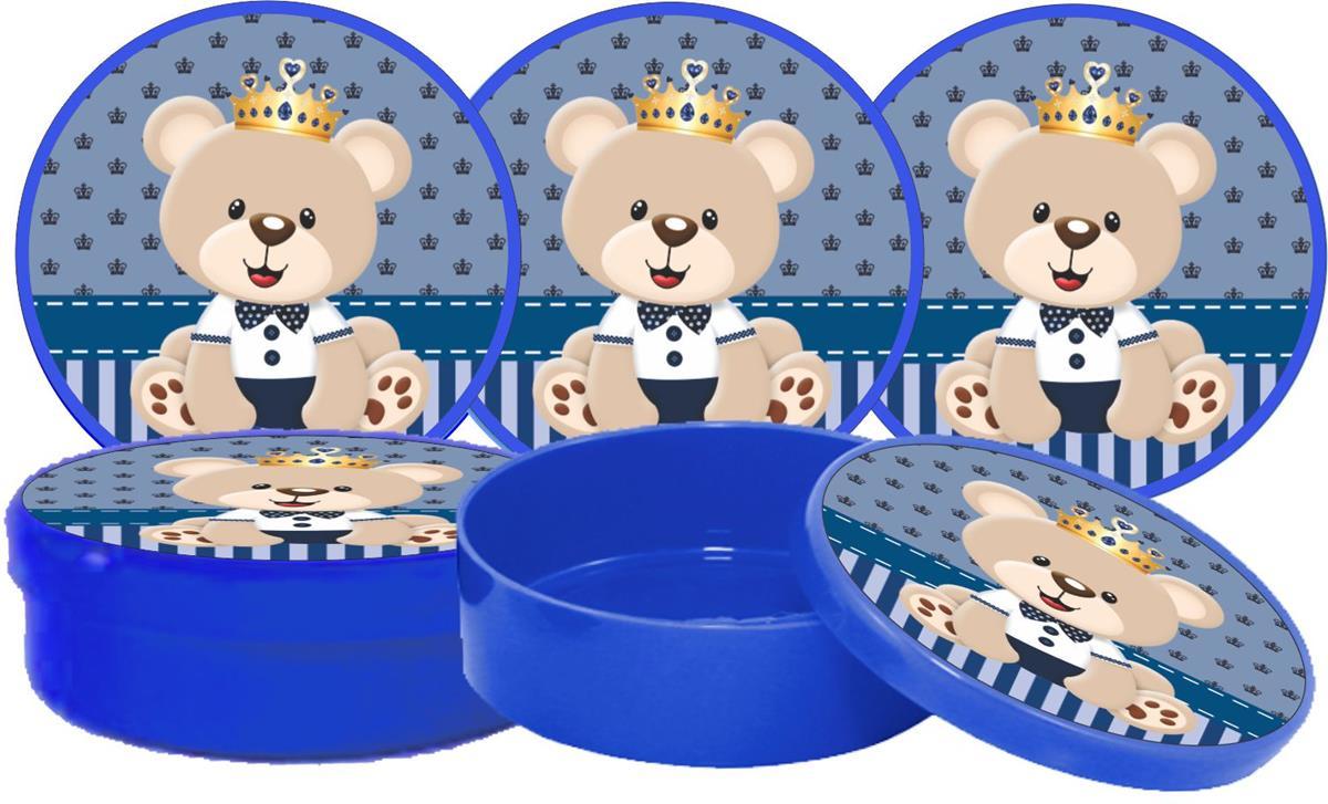Kit Festa Ursinho Príncipe Azul Escuro 265 Peças (30 pessoas)