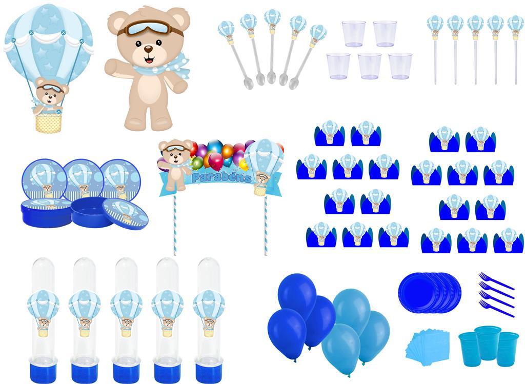 Kit Festa Urso Baloeiro 363 peças (20 pessoas)